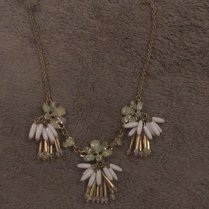 Cute white and gold necklace